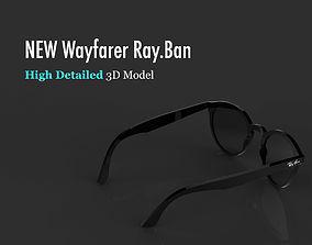 high Ray-Ban Wayfarer sunglasses 3D model