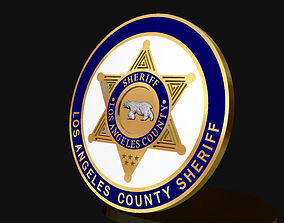 Sheriff badge 3D printable model