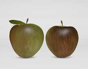 3D asset Realistic Apple