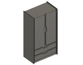 Model Railway Bedroom Cupboard cabinet
