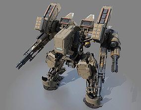 Battle Robot Tank 3D model