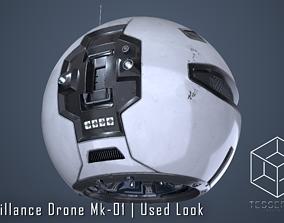 3D PBR Surveillance Drone Mk1 Used Look
