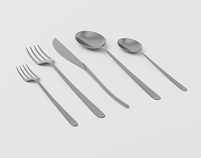 3D model Cutlery Subdive Ready for Rendering
