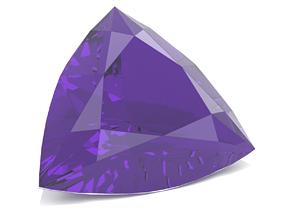 Amethyst Gem - Trillion Cut 3D printable model