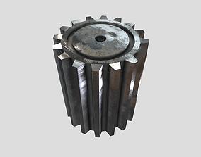 Low Poly Compound Gear 3D asset