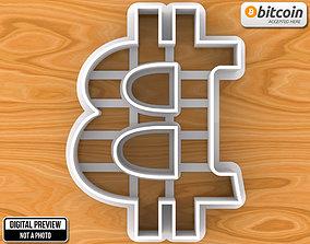 3D print model Bitcoin Sign Emblem Logo Cookie Cutter
