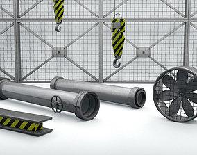 3D asset Industrial Pack 01 - 6 Models included