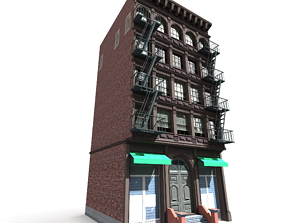 Nyc Building 12 type 1 3D asset