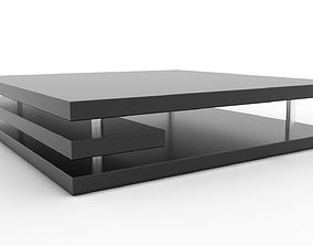 Modern contemporary coffee table 3D asset