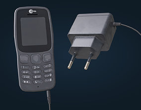3D model Mobile phone and charger