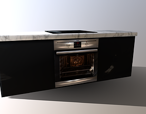 3D asset AEG Oven and Hob