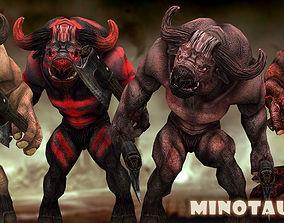 3DRT - Minotaurs animated VR / AR ready
