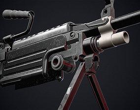 Semi Automatic Rifle FN M249S PARA 3D asset