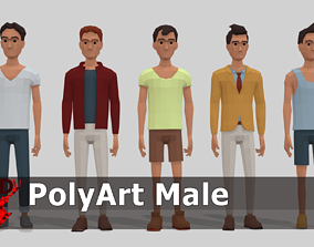 3D model PolyArt Male character