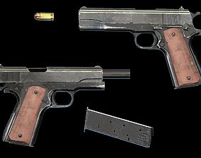 Colt M1911 3D asset low-poly