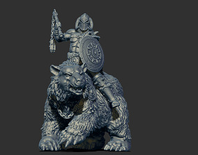 3D printable model barbarian rider 35mm scale