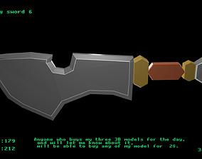 Low poly sword 6 3D model