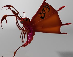 3D model Flying scorpion Rigged