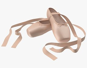 3D model Ballet Shoes - Crossed
