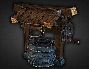 Water Well Low Poly 3D model