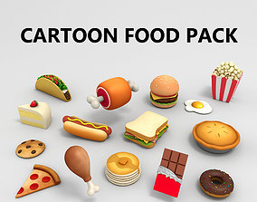 3D donut Cartoon Food Pack