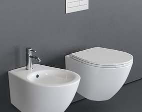 3D asset Esedra by SDR Ceramiche Bull 500 Wall-Hung WC