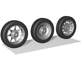 3D model Wheels car