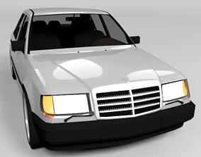 MERCEDES W124 LOWPOLY 3D asset