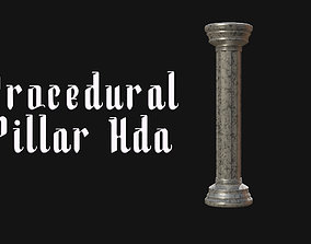 Procedural pillar column generator Hda 3D model realtime