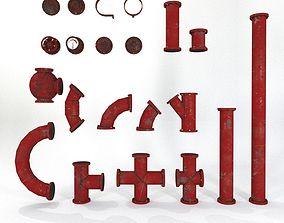 Industrial Pipes Set2 3D model