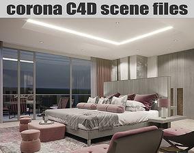 Corona C4D Scene Files - Master Bedroom 3D model