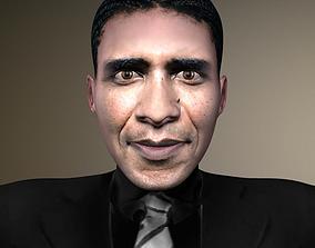 Low Poly Rigged Barack Obama 3D asset