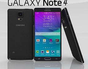 3D model Samsung Galaxy Note 4 Charcoal Black