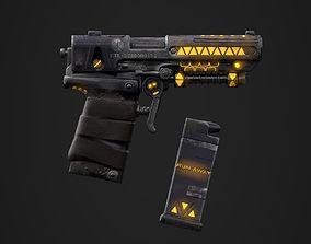 Sci-fi pistol 3D asset VR / AR ready