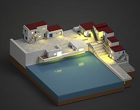 seaside village 3D printable model