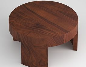 Dark Wooden Coffee Table Quality A++ 3D model