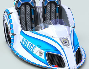 Electric Mobile Police Car 3D