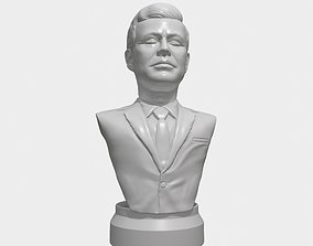 JFK 3D printable portrait sculpture jfkstl