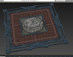 3D asset Ancient carving oriental style decoration