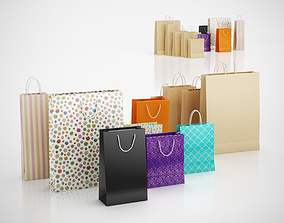 Paper shopping bags 3D