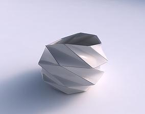 3D print model Bowl skewed with huge plates