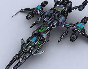 low-poly 3DRT - Sci-Fi Fighters Fleet - Fighter 2