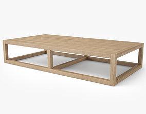 Restoration Hardware Aviara Teak Coffee Table 3D model