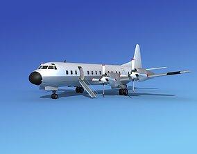 3D Lockheed L-188 Electra HP Unmarked 1