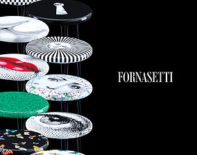 3D model Fornasetti Stools Set