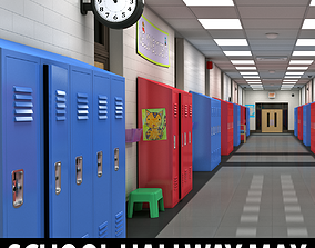 School Hallway MAX 3D