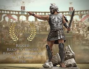 Roman Gladiator Warrior 3D asset