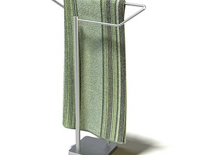 3D model Tall Metal Towel Wrack
