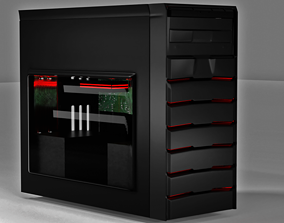 Gaming system block pc 3D