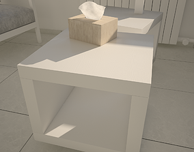 Coffee table 3D furniture white